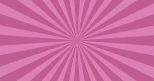 Animowany tło purpurowi wiruje promienie ilustracja wektor
