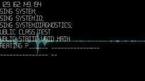 Animowany tło z audio elementami Rozsądny ślad na pokazie Audio sygnału animacja, prosty kolorowy wyrównywacz Obraz Royalty Free