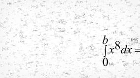 Animowany tło z latającymi formułami i równaniami royalty ilustracja