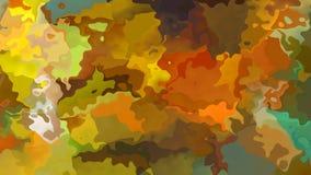 Animowany twinking pobrudzonego tła pętli bezszwowy wideo wojskowy maskuje kamuflaż barwi - akwareli splotch skutek - royalty ilustracja