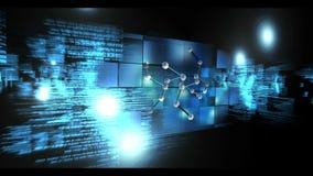 Animowany wideo montaż z DNA ilustracja wektor