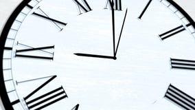 Animowany Zegarowy czas Obraca godzin serie - Dziewięć godzin zdjęcie wideo