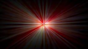 Animowanych czerwone światło promieni abstrakcjonistyczni światła laseru od ciemności 1920x1080 ilustracji