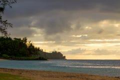 Anini-Strand, Kauai stockbilder
