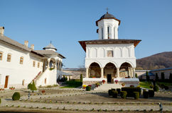 Travel to Romania: Aninoasa White Monastery Church Stock Photos
