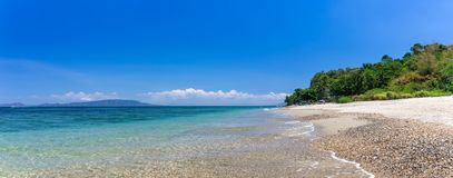 Aninuan beach, Puerto Galera, Oriental Mindoro in the Philippines, panoramic wide view royalty free stock image