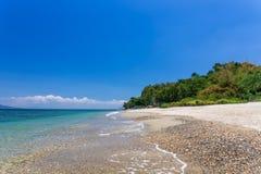 Aninuanstrand, Puerto Galera, Oosterse Mindoro in de Filippijnen, landschapsmening royalty-vrije stock afbeeldingen