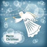 aniołów boże narodzenia odizolowywali biel Obrazy Stock