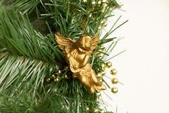 aniołów boże narodzenia odizolowywali biel Zdjęcia Stock