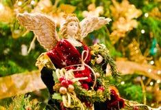 aniołów boże narodzenia odizolowywali biel fotografia stock