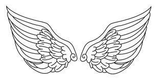 Aniołów skrzydła Obrazy Stock