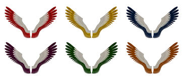 Aniołów skrzydeł paczka - Asortowani Pojedynczy Colours Zdjęcie Stock