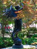 Anioł Brązowa statua fotografia royalty free