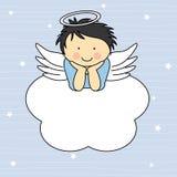 Anioł chłopiec royalty ilustracja