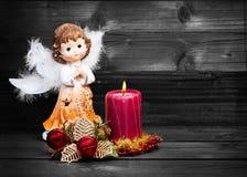 Anioł Czarny i biały Fotografia Stock