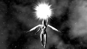 Anioł dziewczyna lata słońce 4K zdjęcie wideo