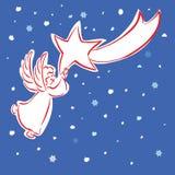anioł gwiazda Obraz Royalty Free