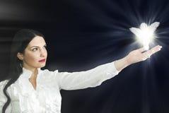 anioł jej kobieta fotografia stock