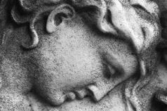 anioł kamień Obrazy Royalty Free