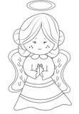 Anioł kolorystyki strona royalty ilustracja