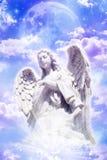 anioł księżyc Zdjęcia Royalty Free