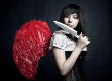 anioł maniaczka Fotografia Royalty Free
