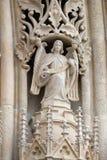 Anioł na portalu Zagreb katedra obrazy royalty free