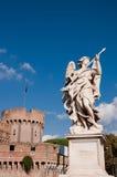 Anioł przy Mostem w Castel Sant'angelo Roma - Włochy Obraz Stock