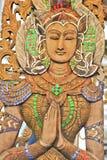 Anioł rzeźbi, Thailand Obraz Stock
