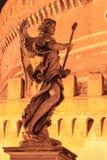 Anioł statuy St aniołów most, Rzym fotografia royalty free
