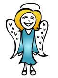 anioł szczęśliwy Fotografia Royalty Free