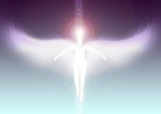 Anioł unosi się niebo royalty ilustracja