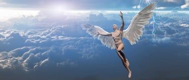 Anioł w niebie ilustracja wektor