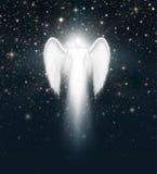 Anioł w nocnym niebie Zdjęcia Stock