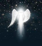 Anioł w nocnym niebie Obraz Royalty Free