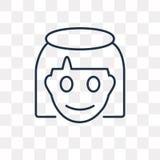 Anioł wektorowa ikona odizolowywająca na przejrzystym tle, liniowy Ang ilustracji