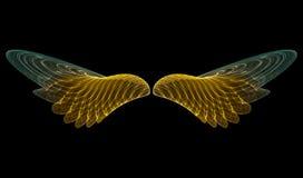 anioł złoty abstrakcyjne Fotografia Stock