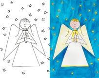 Anioł z świeczką Obraz Stock