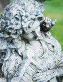 Anioł z harfą Obrazy Royalty Free