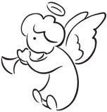 Anioł z trąbką Zdjęcia Stock
