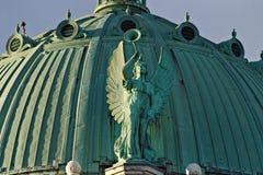 Anioł Z trąbką zdjęcie stock