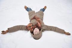 anioła śnieg Zdjęcia Stock