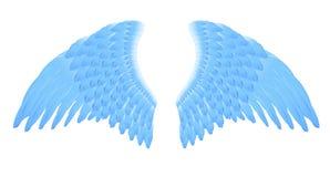 anioła błękit skrzydła Fotografia Stock