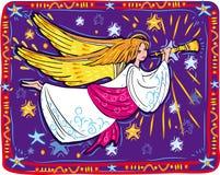 anioła bożych narodzeń trąbka royalty ilustracja