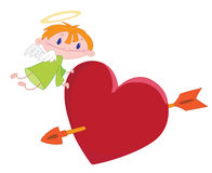 anioła chłopiec serce Obraz Royalty Free