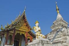 Anioła dziedzictwa statua w świątyni Obrazy Royalty Free
