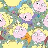 Anioła Gwiazdowy Bezszwowy wzór Obraz Royalty Free