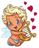 anioła harfy bawić się Obrazy Royalty Free