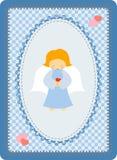 anioła mały błękitny Royalty Ilustracja