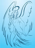 anioła piękna sukni światła kobieta Obraz Stock